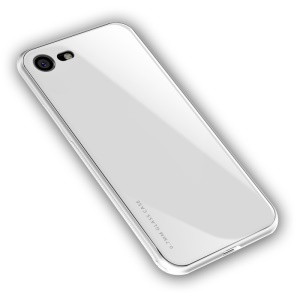 NXE Clear 9H Glass Back + TPU Combo Edge Case Para Iphone 8/7 4,7 Polegadas - Branco