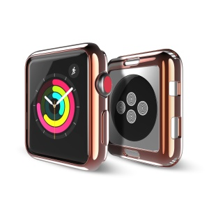 DUX DUCIS S Series Electroplating Soft TPU Gel Phone Shell for Apple Watch Series 3/2/1 42mm - Gold