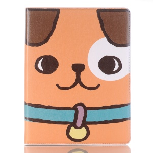 Embossed Cartoon Pattern Leather Stand Tablet Cover for iPad 9.7 (2018)/9.7 (2017)/Air 2/Air with Pen Slot - Dog
