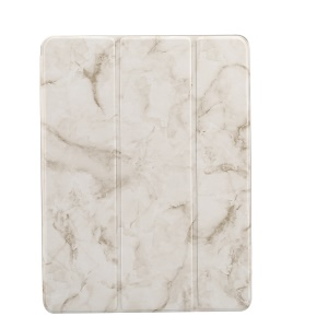 Marble Pattern Tri-fold Stand Smart Leather Cover Shell for iPad 9.7-inch (2018)/9.7-inch (2017)/Pro 9.7 inch (2016)//Air 2/Air - Grey
