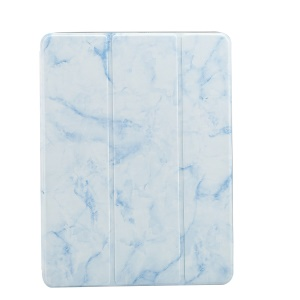 Marble Pattern Tri-fold Stand Smart Leather Protective Case for iPad 9.7-inch (2018)/9.7-inch (2017)/ Pro 9.7 inch (2016)//Air 2/Air - Blue