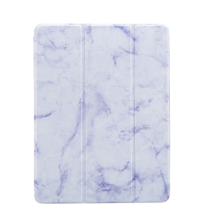 Marble Pattern Tri-fold Stand Smart Leather Cover Protector for iPad 9.7-inch (2018)/9.7-inch (2017)/Pro 9.7 inch (2016)//Air 2/Air - Purple