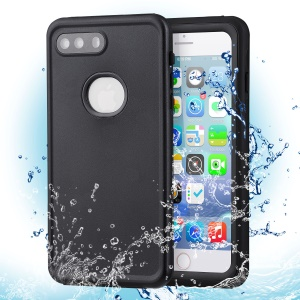 Dustproof Snowproof 6M Waterproof Dual Purpose Case for iPhone 8 Plus/7 Plus 5.5 inch - All Black