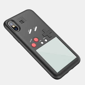 VC-061 Creative Gaming Shell PC TPU Protection Mobile Phone Case for iPhone X - Black