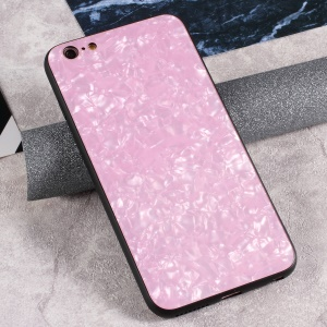 9H Tempered Glass Back + Soft TPU Edges Phone Case for iPhone 6s Plus / 6 Plus - Pink