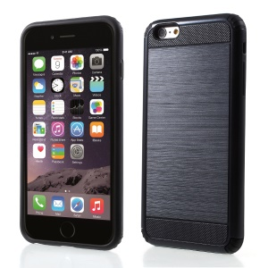 2-in-1 Drop-proof Brushed PC + TPU Phone Case for iPhone 6s / 6 4.7-inch - Black