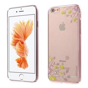 X-FITTED Spring Flower Swarovski Diamond Hard Case for iPhone 6s 6