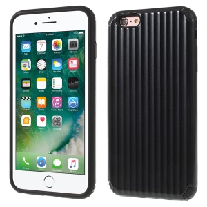 Traveling Case Pattern Anti-drop PC + TPU Hybrid Protection Case for iPhone 6s Plus / 6 Plus - Black
