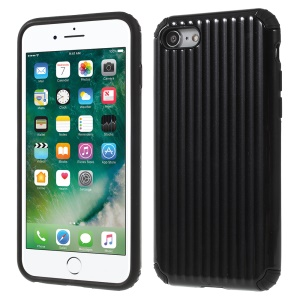 Traveling Case Pattern Anti-drop PC + TPU Hybrid Protection Case for iPhone 8 / 7 4.7 inch - Black