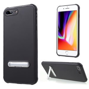 Anti-drop PC + TPU Hybrid Case with Kickstand for iPhone 8 Plus/7 Plus 5.5 inch - Black