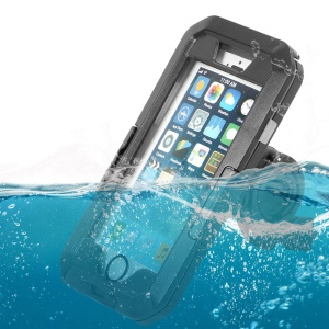 For iPhone X 5-in-1 IPX8 10m ABS Waterproof Case + Bike Mount + Wrist Strap + Neck Lanyard + Carabiner
