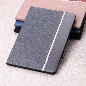 Contrast Color Canvas Leather Stand Smart Shell Case for iPad 9.7-inch (2018) / 9.7-inch (2017) / Pro 9.7 inch (2016) / Air 2 / Air - Grey
