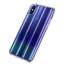BASEUS Aurora Series Electroplating Hard Plastic Shell for iPhone X 5.8 inch - Blue