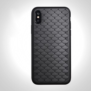 BENKS 3D Cloud Series Breathable TPU Gel Cover for iPhone X - Black