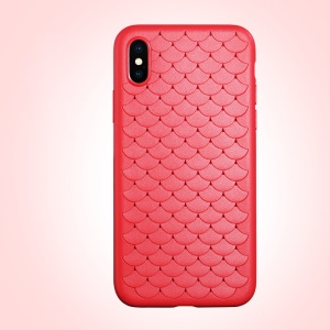 BENKS 3D Cloud Series Breathable TPU Back Case for iPhone XS / X 5.8 inch - Red