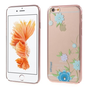 X-FITTED Orchid Flowers Diamond Hard PC Case for iPhone 6s 6 - Rose Gold