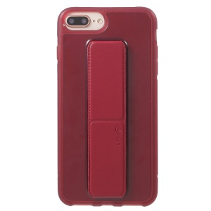 ROAR Aura Series TPU Case with PU Leather Kickstand for iPhone 8 Plus/7 Plus/6s Plus/6 Plus 5.5 inch - Red