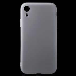 Anti-fingerprint Matte TPU Mobile Phone Casing for iPhone XR 6.1 inch - White