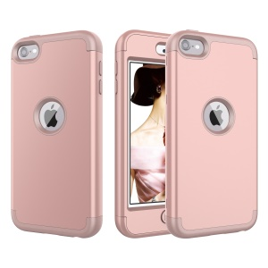 Silicone + PC Combo Anti-dust Detachable Shock Proof Case for iPod Touch (2019) / Touch 6 - Rose Gold
