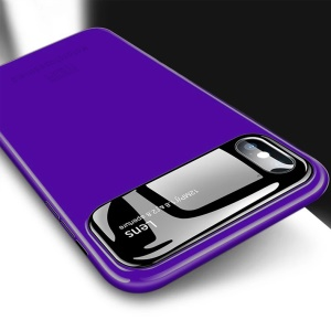 MOFI Shaped Shield Series Alumma Glass + PC Combo Back Case for iPhone X 5.8 inch - Purple