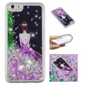 Pattern Printing Dynamic Glitter Powder Sequins TPU Case for iPhone SE 2nd Gen (2020)/8/7 - Pretty Girl's Back