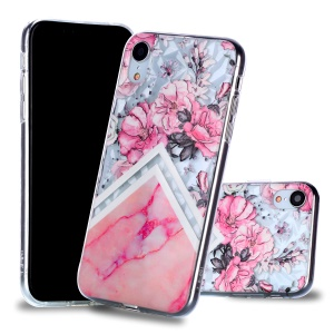 Pink Flower and Marble Pattern