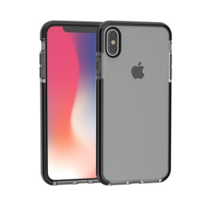 Seamless Dots Gel TPU Case for iPhone Xs Max 6.5-inch - Black / Grey