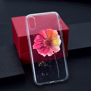 Pattern Printing TPU Protection Mobile Phone Casing for iPhone XR 6.1 inch - Flower
