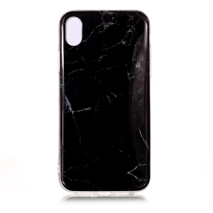 Pattern Printing IMD TPU Phone Cover for iPhone XR 6.1-inch - Black Marble