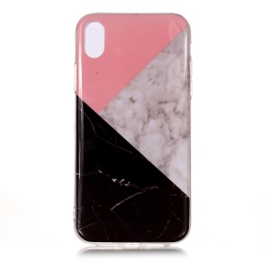 Pattern Printing IMD TPU Phone Gel Case for iPhone XR 6.1-inch - Splicing Marble Pattern