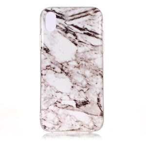 Pattern Printing IMD TPU Phone Casing for iPhone Xs Max 6.5-inch - Grey Marble