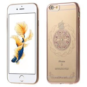 XINCUCO Hot Wheel Rhinestone Plated TPU Case Cover for iPhone 6s 6 - Gold