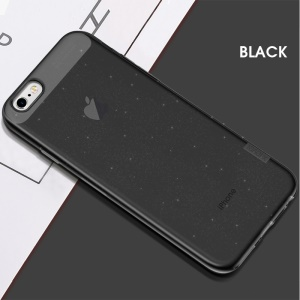X-LEVEL Glitter Powder TPU Protective Shell for iPhone 6s / 6 4.7-inch - Black