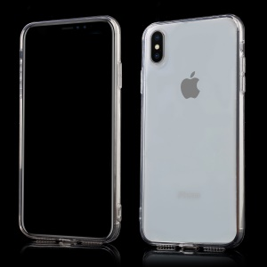 Clear Acrylic Back + TPU Edge Hybrid Cell Phone Cover for iPhone XS Max 6.5 inch