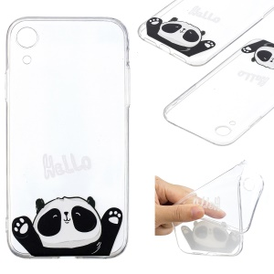 For iPhone XR 6.1 inch Pattern Printing Soft TPU Case Accessory - Cute Panda