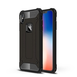 Armor Guard Plastic + TPU Hybrid Phone Case for iPhone XS Max 6.5 inch - Black