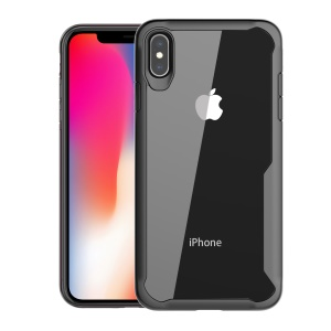 Shock Absorption PC + TPU Hybrid Case for iPhone XS Max 6.5 inch - Black