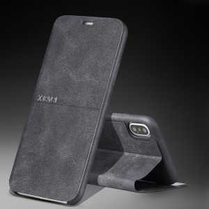 X-LEVEL Extreme Series Leather Stand Case for iPhone XS Max 6.5 inch - Black