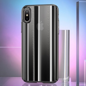 USAMS US-BH430 Sanz Series Electroplating PC Back Case for iPhone X - Black