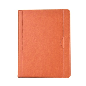 Business Style Wallet Stand PU Leather Smart Folio Case with Pen Slot for iPad 9.7 (2018)/9.7 (2017)/Pro 9.7 (2016)/Air 2/Air - Orange
