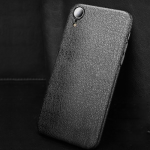 Litchi Texture Soft TPU Cell Phone Case Cover for iPhone XR 6.1 inch