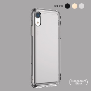 Baseus Safety Airbags TPU Soft Dustproof Shell Case for iPhone XR 6.1 inch - Transparent Black