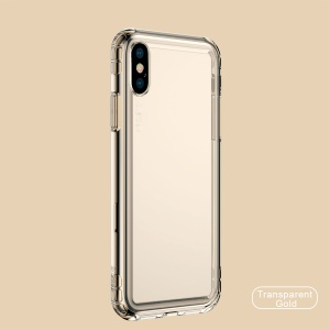 Baseus Safety Airbags TPU Mobile Phone Cover for iPhone XS Max 6.5 inch - Transparent gold