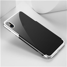 BASEUS Glitter Series Electroplated Hard PC Phone Cover for iPhone Xs 5.8 inch - White