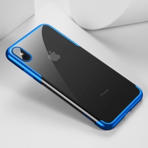 BASEUS Glitter Series Electroplated Hard PC Cellphone Cover for iPhone Xs 5.8 inch - Blue