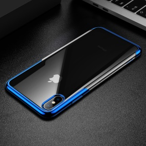 BASEUS Shining Series Plated TPU Shell for iPhone XS Max 6.5 inch - Blue