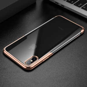 BASEUS Shining Series Plated TPU Casing for iPhone XS Max 6.5 inch - Gold