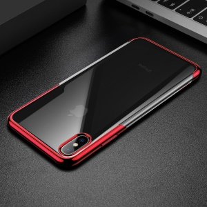 BASEUS Shining Series Plated TPU Cell Phone Case for iPhone XS Max 6.5 inch - Red