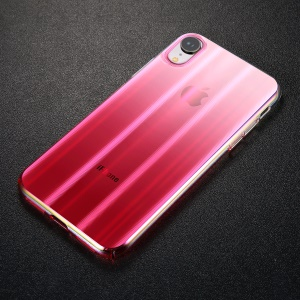 BASEUS Aurora Series Electroplating Hard Plastic Case for iPhone XR 6.1 inch - Transparent Pink