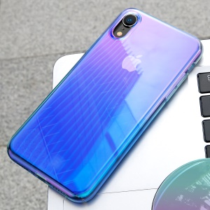BASEUS Glow Case Gradient Color TPU PC Hybrid Mobile Phone Case for iPhone XR 6.1 inch - Blue